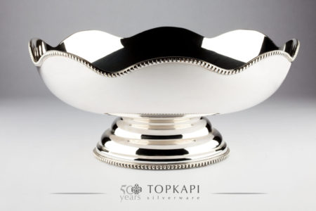 Flower shaped silver plated sweets dish/salad bowl