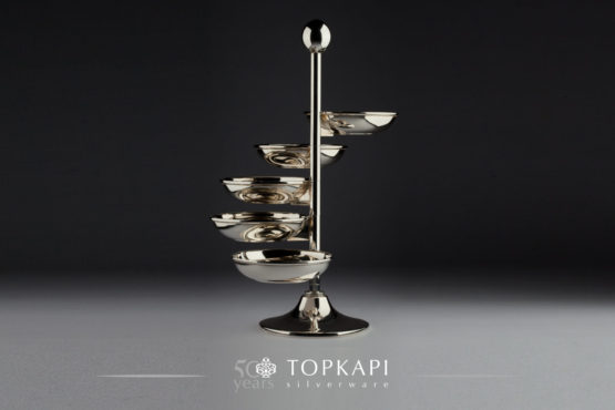 5 bowl rotating stand
