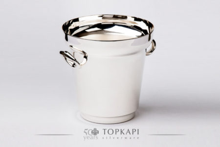 Ellipse silver plated champagne bucket