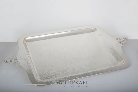 Topkapi-Rectangular hammered tray