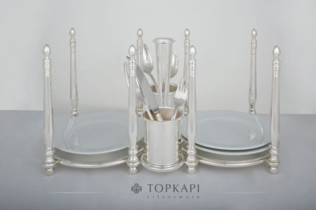 Topkapi-Plate and cutlery stand