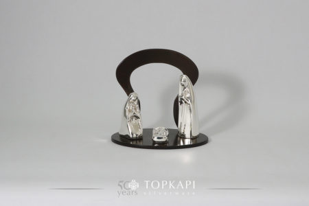 'Nativity' scene, silver plated