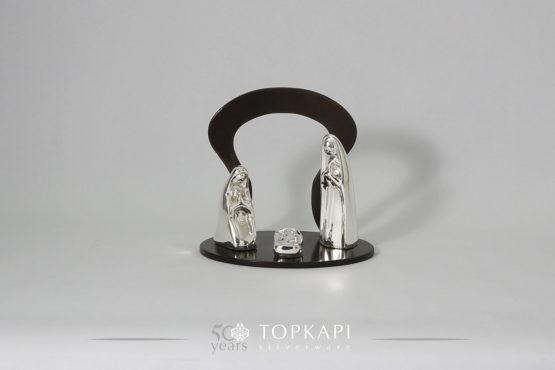 'Nativity' scene, silver plated